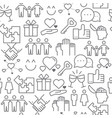 line style icons seamless pattern relationship vector image vector image