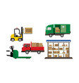 logistic and transportation warehouse and vector image vector image