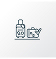 luggage check icon line symbol premium quality vector image vector image
