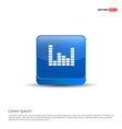 music sound wave icon - 3d blue button vector image vector image