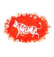 ox chinese zodiac symbol new year 2021 vector image