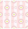 Pastel Seamless Pattern with Camomiles vector image