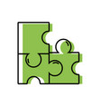 puzzles pieces game to idea solution vector image vector image