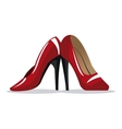 red high heel shoe wo vector image