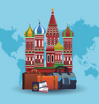 russia travel concept vector image vector image