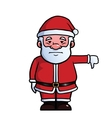 Santa Claus giving thumbs down vector image vector image