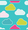 seamless pattern with colorful clouds silhouettes vector image vector image