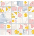 Seamless pattern with saving pigs and money vector image
