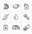 set fuel icons petrol station gasoline vector image vector image