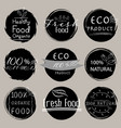 set of banner eco product natural vegan vector image