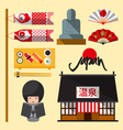 Set of Japan icon in flat design vector image vector image