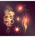 set of twinkle actions on transparent background vector image vector image