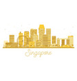 singapore city skyline golden silhouette vector image vector image