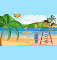 surfer in summer beach vector image