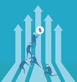 Team building financial graph vector image