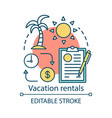 vacation rentals concept icon apartment cottage vector image