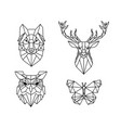 variety low poly animals vector image vector image