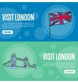 Visit London Touristic Web Banners vector image vector image