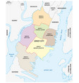 ward map jersey city new jersey usa vector image vector image