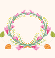 Watercolor purple flowers frame vector image vector image
