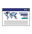 website world report chart business vector image vector image