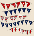 set of 4th july party flags on string vector image