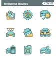 Icons line set premium quality of automotive vector image