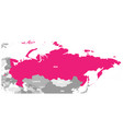 political map of russia and surrounding countries vector image
