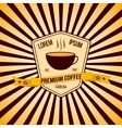 coffee banner and logo with background vector image