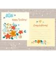 congratulation happy birthday card for vector image