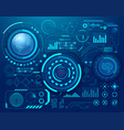 abstract digital technology sci- fi hud style vector image