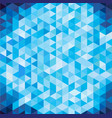 abstract geometric blue triangle with copy space vector image vector image