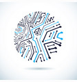abstract technology with circular circuit board vector image vector image