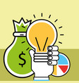 analytics and investment business vector image vector image