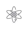 atom line icon concept atom linear vector image