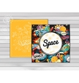banner space vector image vector image