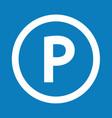 basic font letter p icon design vector image