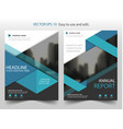blue triangle brochure annual report leaflet vector image vector image