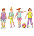 Boy and girls vector image