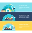 Cargo Shipping Banners vector image vector image