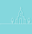 Christian Church Building Background vector image vector image