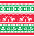 Christmas and Winter knitted pattern card vector image vector image