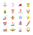 Christmas Party Flat Color Icons vector image vector image