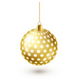 christmas tree shiny golden ball new year vector image vector image