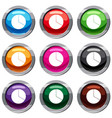 circle chart infographic set 9 collection vector image vector image