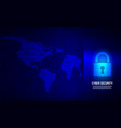 closed padlock on binary code background vector image