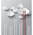cloud and stair vector image