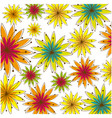 colorful background with several flowers vector image
