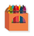 colorful box and crayon set graphic vector image vector image