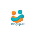 compassion friendship family love vector image